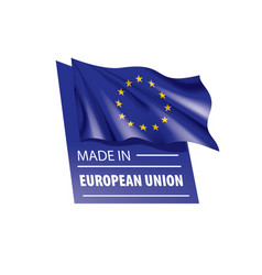 European union flag on a vector