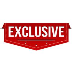 Exclusive banner design vector