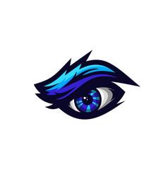 Eye mascot logo vector