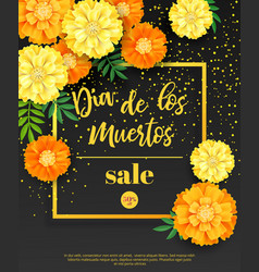 Festive flyer of day of the dead sale dark vector