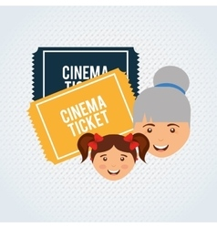 filmed entertainment design vector image