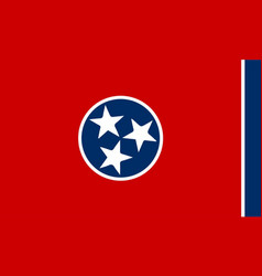 Flag of tennessee vector