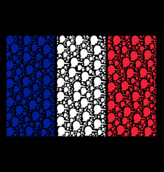 French flag mosaic of lier items vector