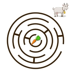 Game labyrinth find a way goat vector image