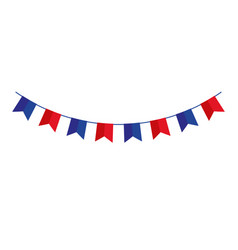 Garlands hanging blue and red color isolated icon vector