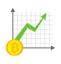 growth bitcoin graph growth of cryptocurrency vector image