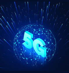 High speed 5g global mobile networks business vector