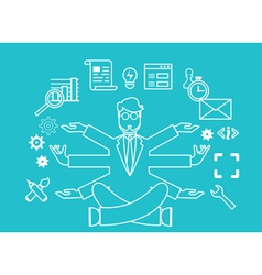 Human resources and self-development vector
