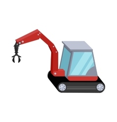 Hydraulic crane icon cartoon style vector