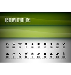 Icons Layout vector image
