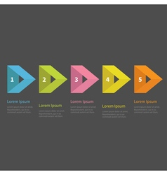 Infographic five step with empty triangle arrow vector