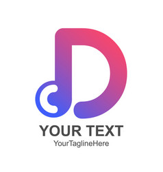 initial letter d logo template colorful design vector image