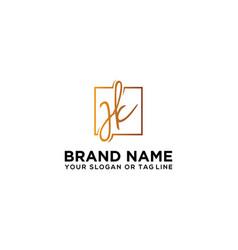 Letter jk logo design template vector