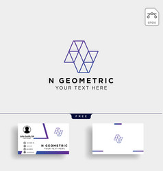 letter n geometric logo template with business vector image