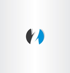 letter z logo blue black circle sign icon vector image