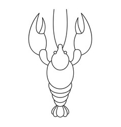 lobster icon outline style vector image