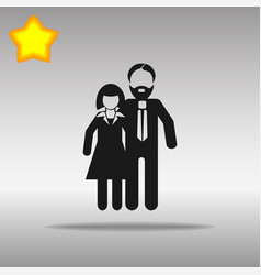 man and woman black icon button logo symbol vector image