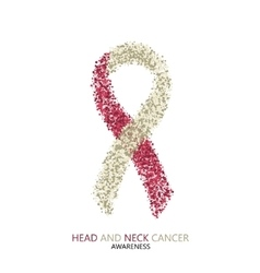 modern head and neck cancer awareness vector image