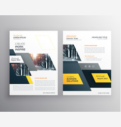Modern yellow brochures set for business vector