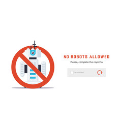 No robots allowed vector