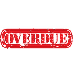 Overdue stamp vector image