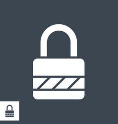 Padlock glyph icon vector
