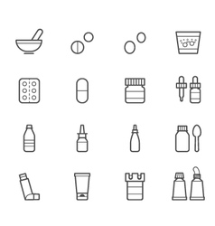 Pharmacy and Medical Icons vector image