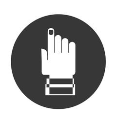 pointer hand icon vector image