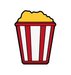 Popcorn bucket icon image vector