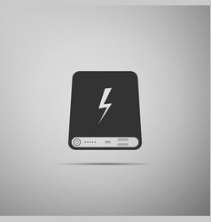 Power bank icon portable charging device vector