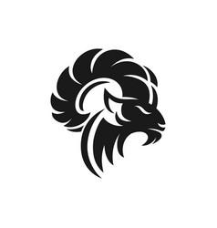 Ram logo design vector