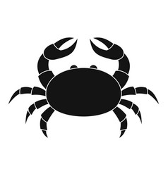 Raw crab icon simple style vector
