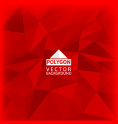 Red polygon abstract background vector
