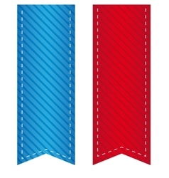 Ribbon bookmark vector