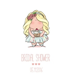 Romantic announcement for bridal shower party vector