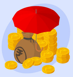 safe and secure indian rupee investments concept vector image