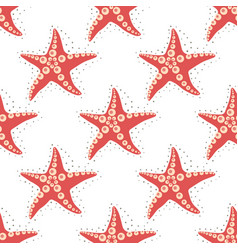 sea star pattern 2 vector image