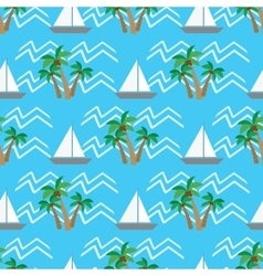 Seamless pattern tropical coconut palm trees and vector