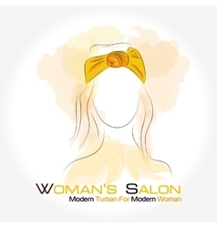 Silhouette woman in a turban vector