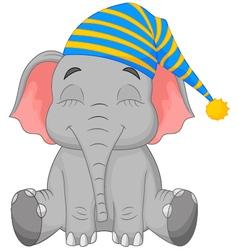 Sleeping Elephant in a cap vector image