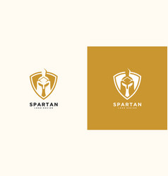spartan logo and design helmet and head vector image