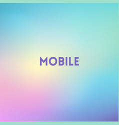 square blurred background - modern mobile colors vector image