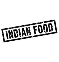 Square grunge black indian food stamp vector