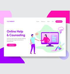 student online help concept vector image