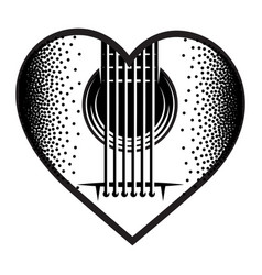 stylish monochrome plectrum for guitar vector image