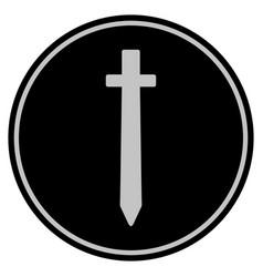 Symbolic sword black coin vector