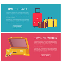 time to travel web pages set vector image
