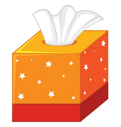 Tissue box with tissues isolated vector
