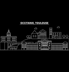 toulouse silhouette skyline france - toulouse vector image