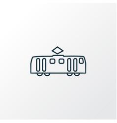 tram icon line symbol premium quality isolated vector image